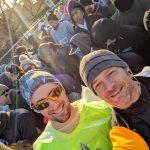 waiting at the start line of the NYRR United NYC Half Marathon