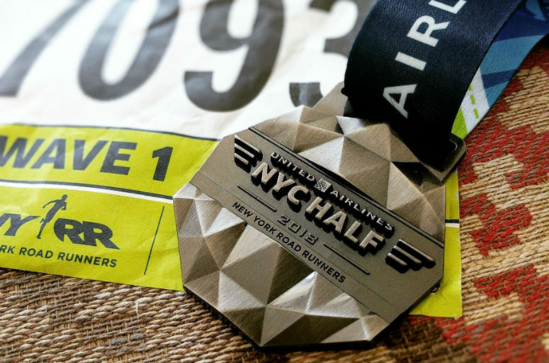 United Airlines NYC Half Marathon medal